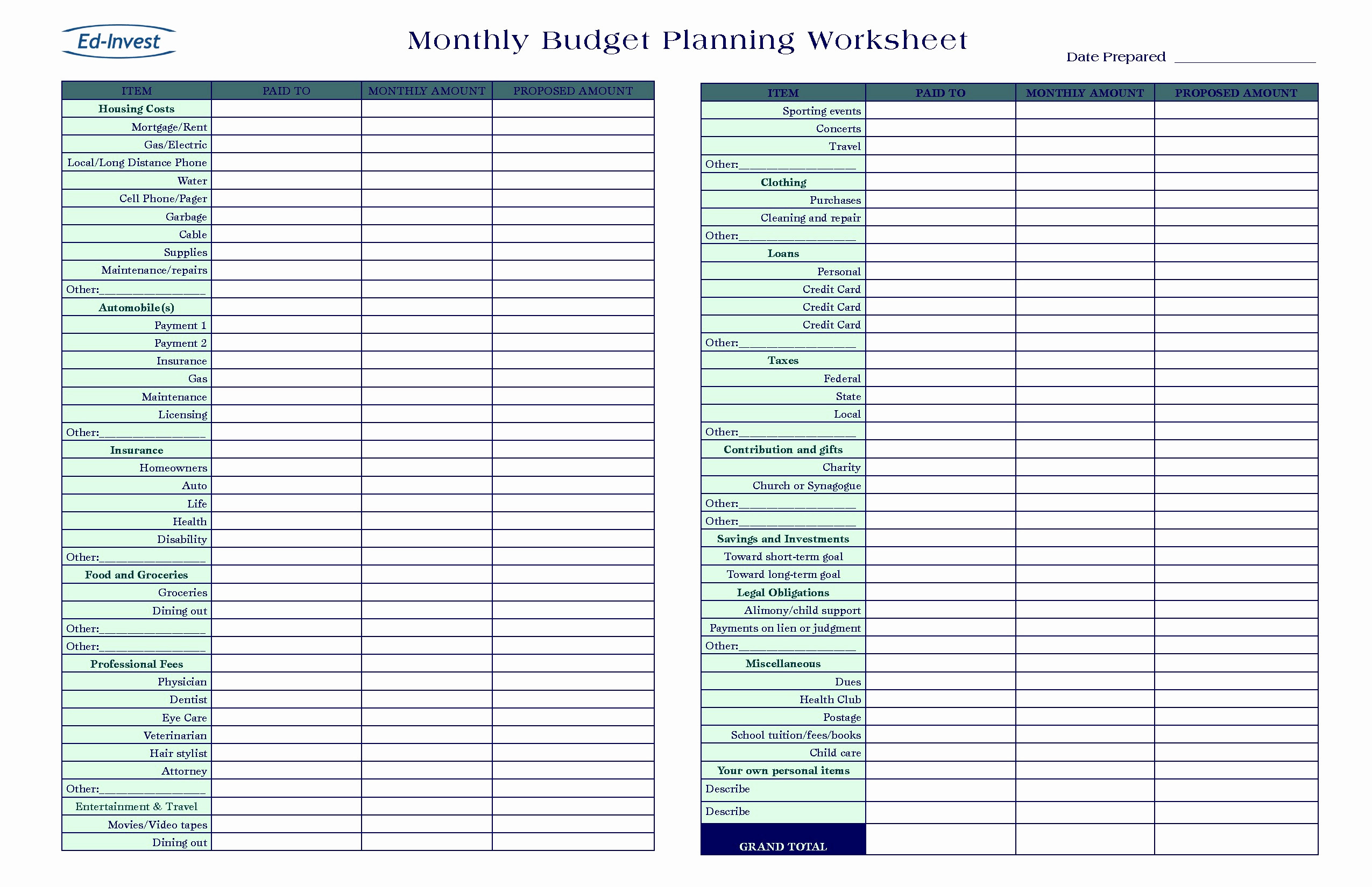 Small Business Tax Spreadsheet Template Free Downloads