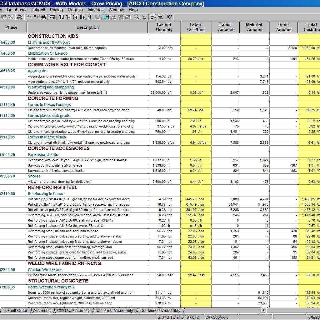 Electrical Estimating Spreadsheet Spreadsheet Software