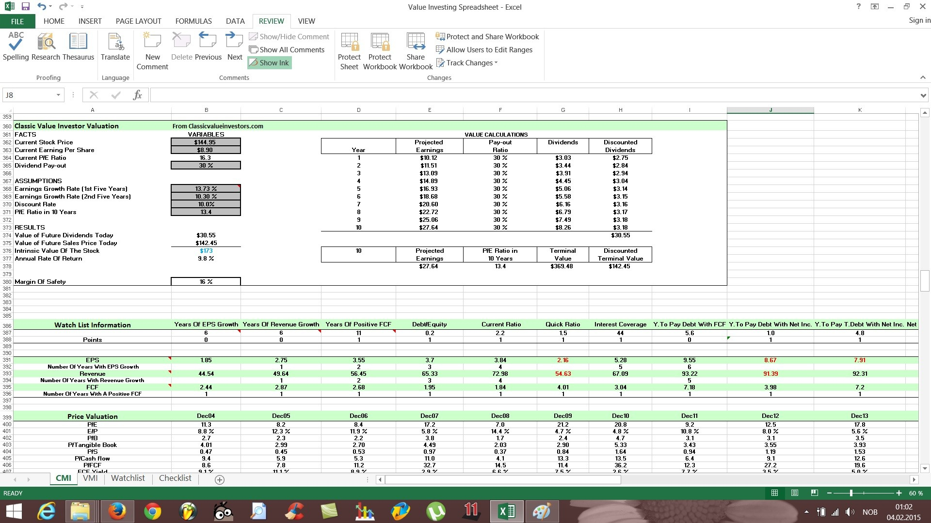 Stock Portfolio Sample Excel New Small Business Inventory