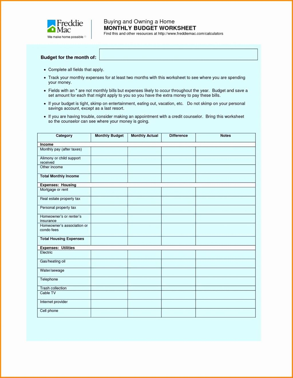 Estimated Tax Worksheets