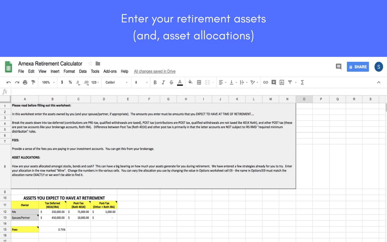 401k Projection Spreadsheet In Retirement Planning