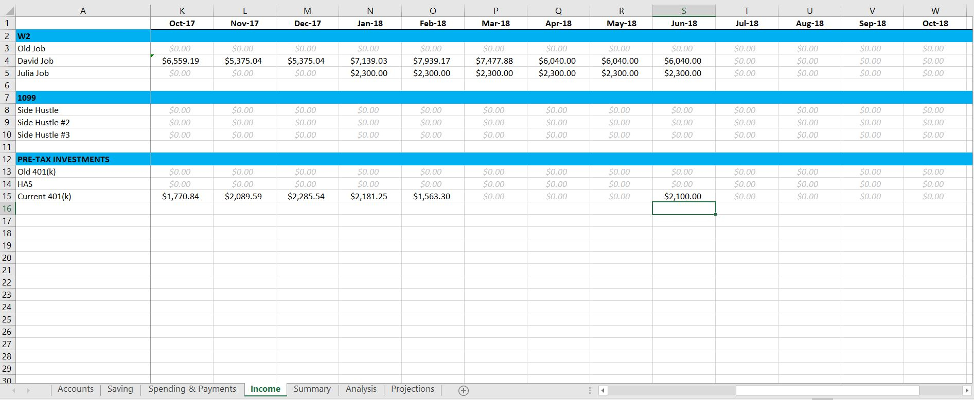 401k Projection Spreadsheet Db Excel