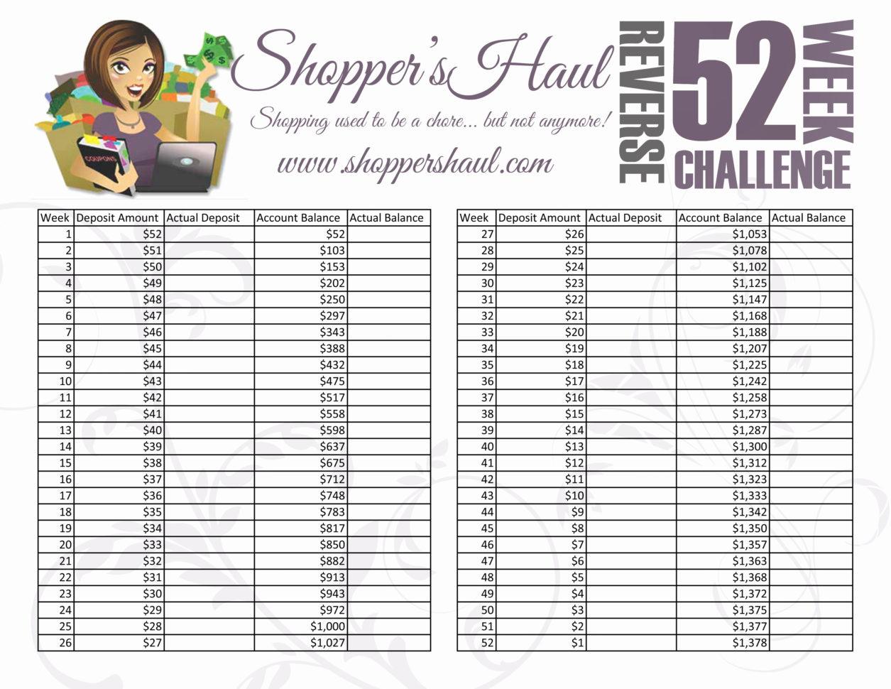 52 Week Savings Plan Spreadsheet