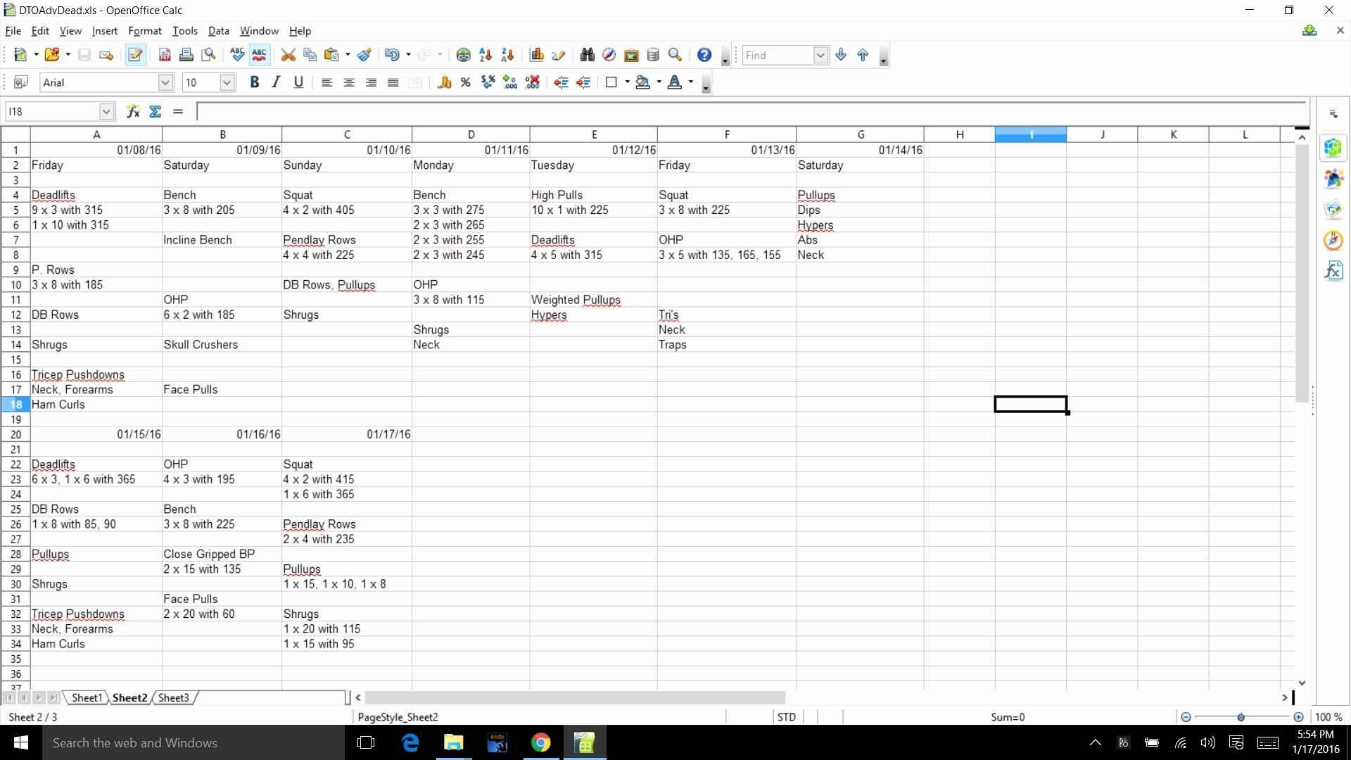 5x5 Workout Routine Spreadsheet With Regard To
