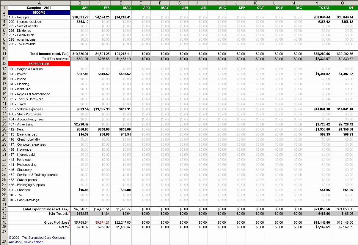 Accounting Spreadsheet Examples Inside Accounting