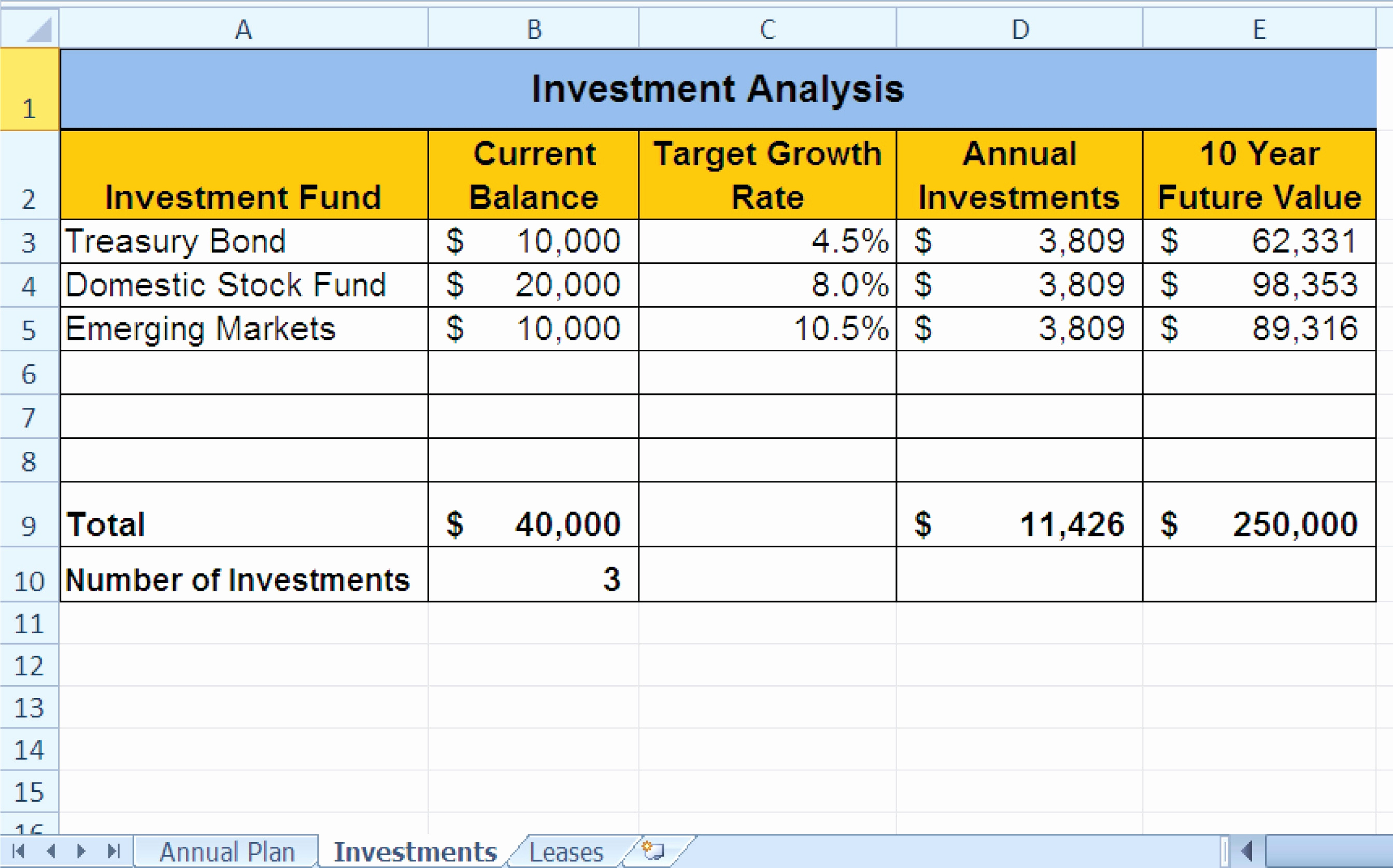10 Column Worksheet Template Excel