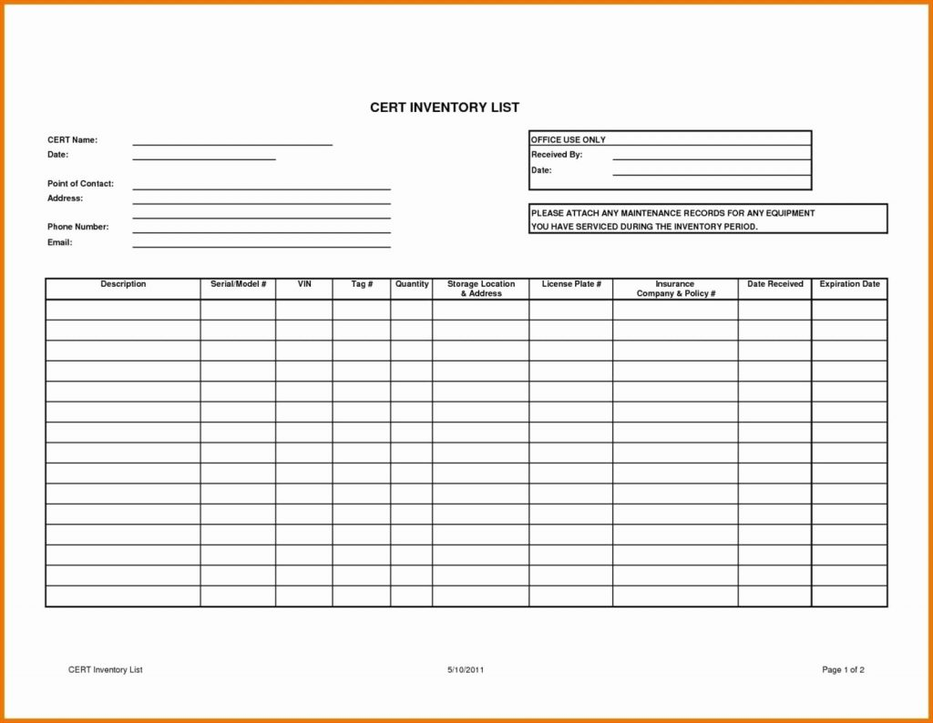 Antique Inventory Spreadsheet Throughout Chemical