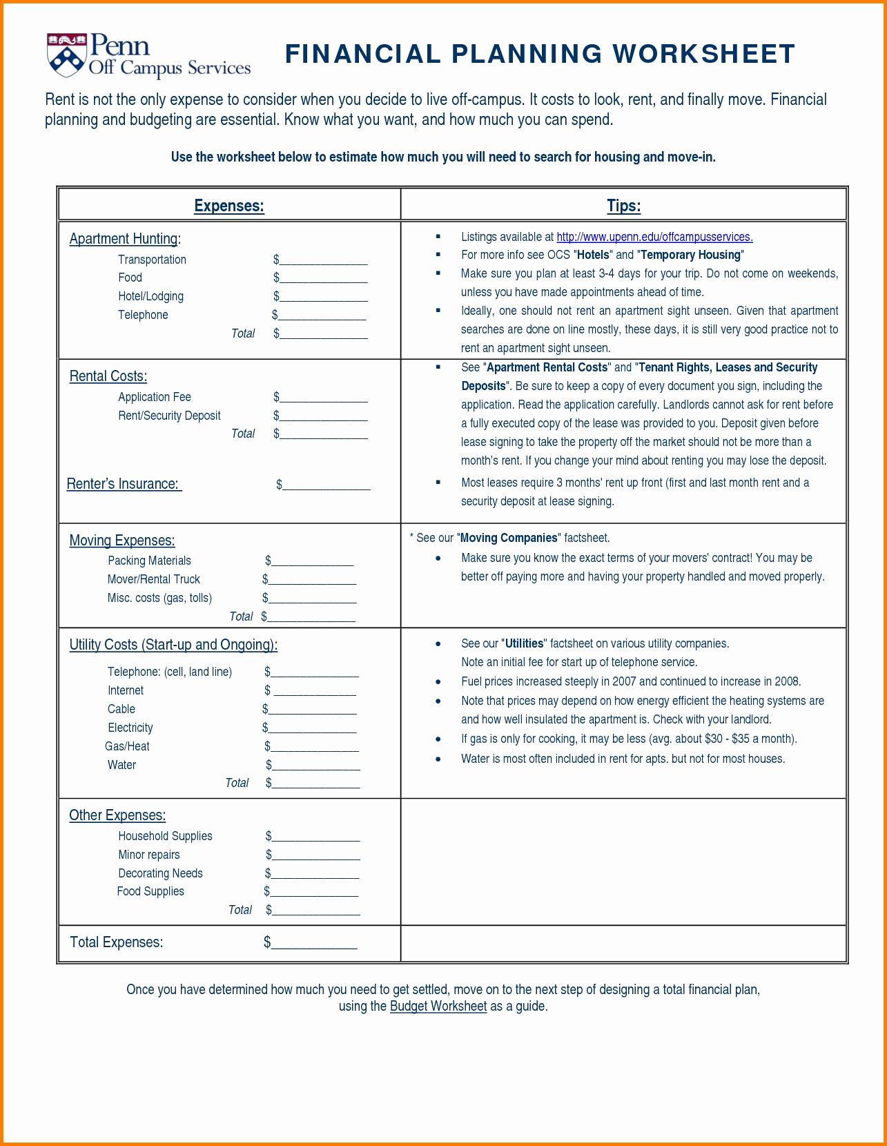Apartment Expenses Spreadsheet Printable Spreadshee
