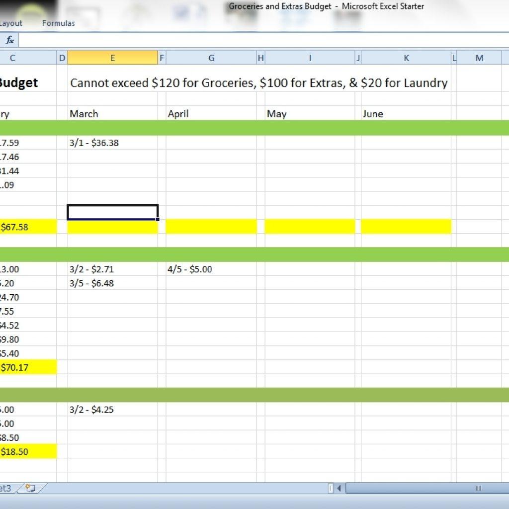 Apartment Expenses Spreadsheet Regarding How To Keep Track