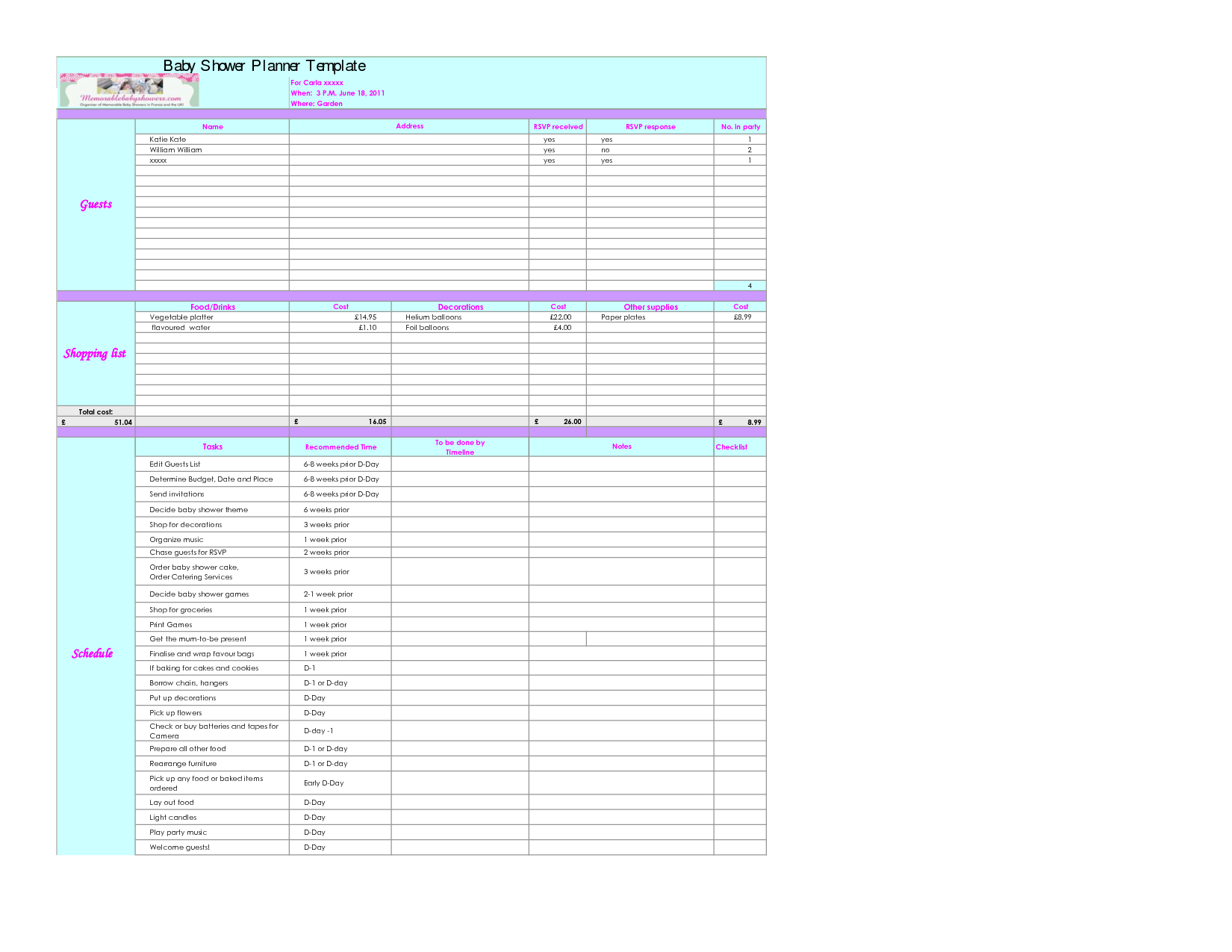 Baby Budget Spreadsheet Excel Spreadsheet Downloa Baby Budget Spreadsheet Excel
