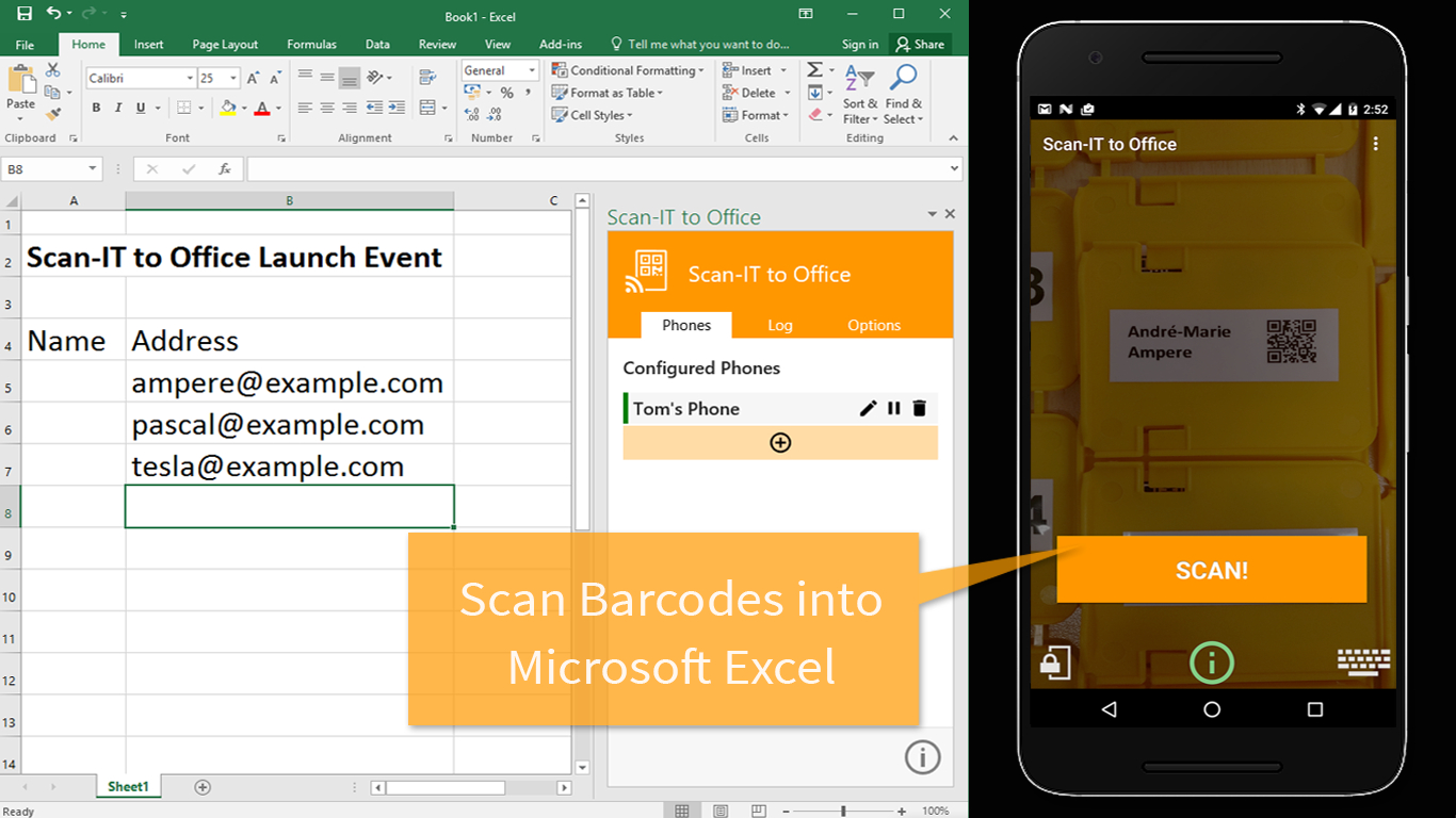 Barcode Scanning To Excel Spreadsheet Db Excel