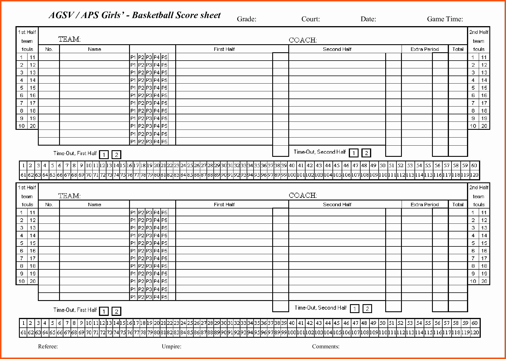 Basketball Statistics Sheet That Are Remarkable