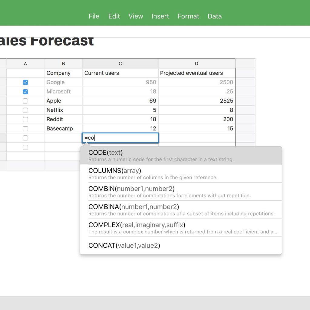 Best Spreadsheet Software In Spreadsheet Software For Mac