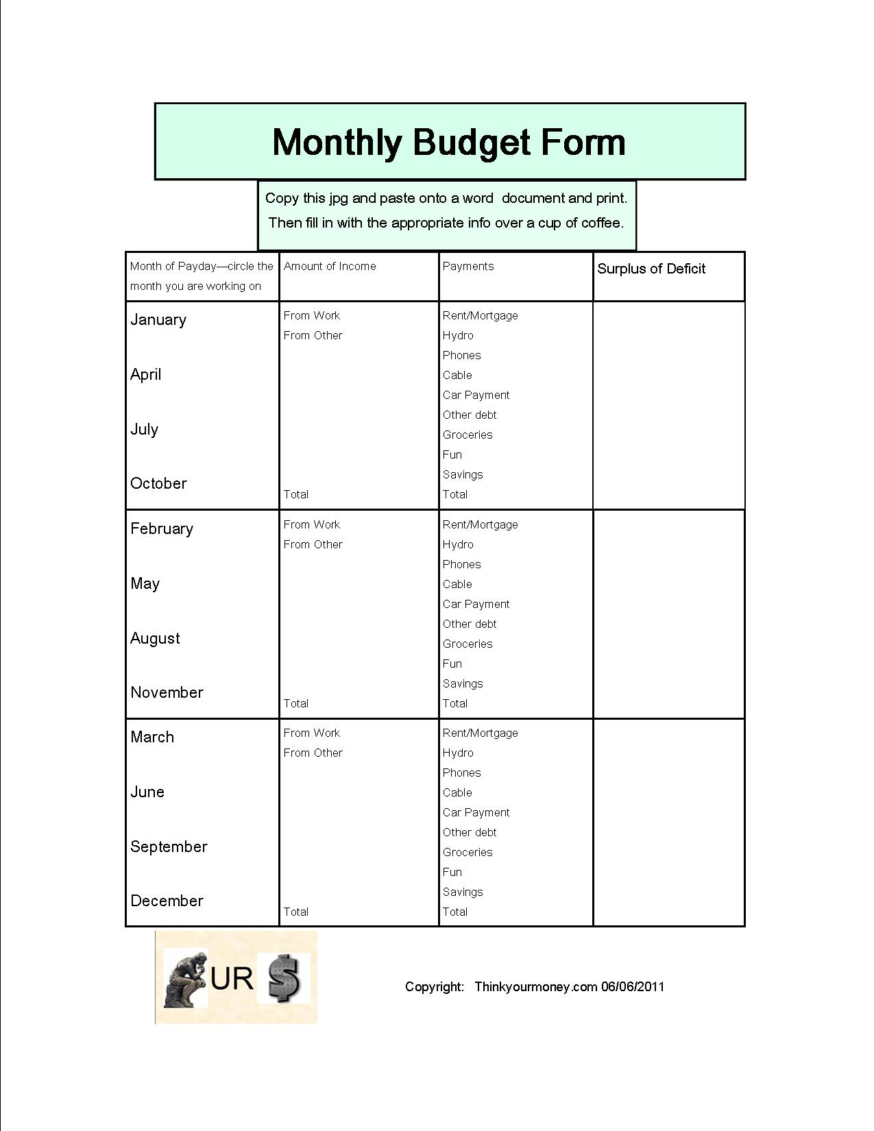 Bi Weekly Expenses Spreadsheet