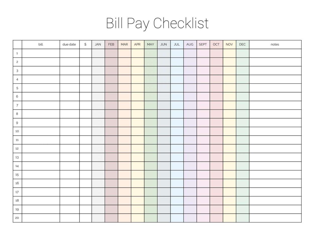 Bill Pay Spreadsheet Spreadshee Bill Paid