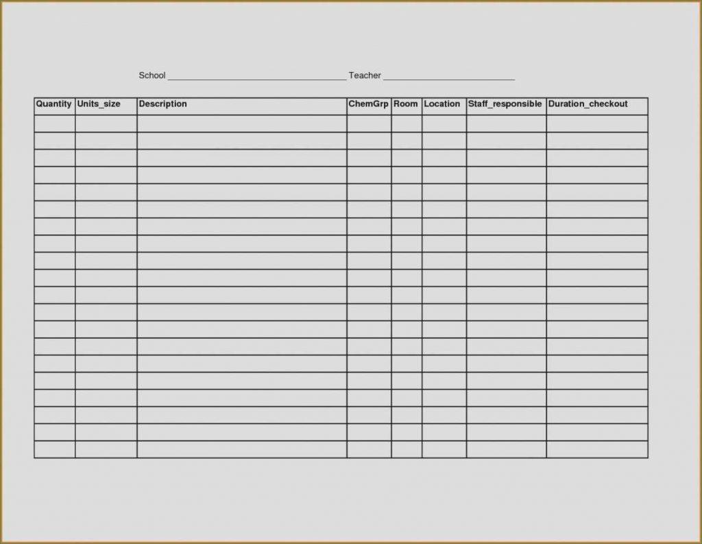 Blank Spreadsheet Template Within Blank Spread Sheet
