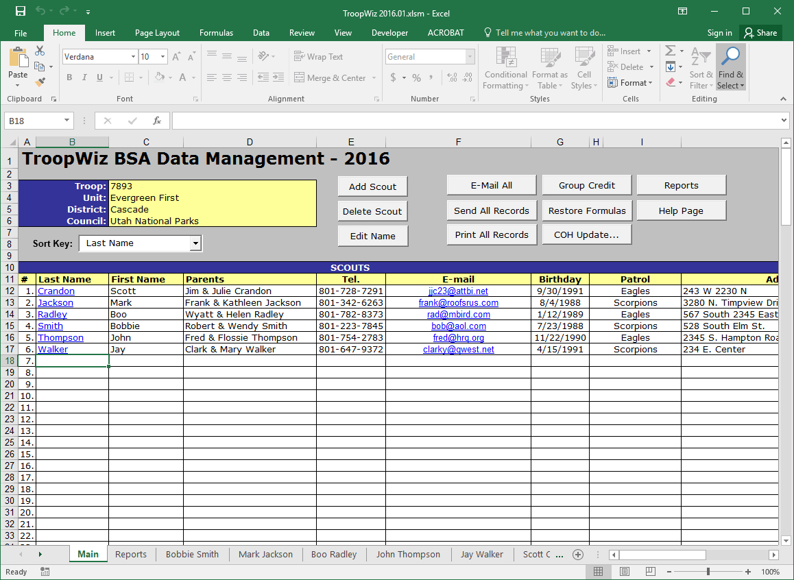 Boy Scout Troop Accounting Spreadsheet Spreadshee Boy Scout Troop Accounting Spreadsheet