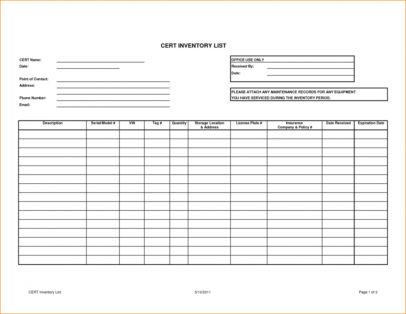 Business Tracking Spreadsheet Template For Stock