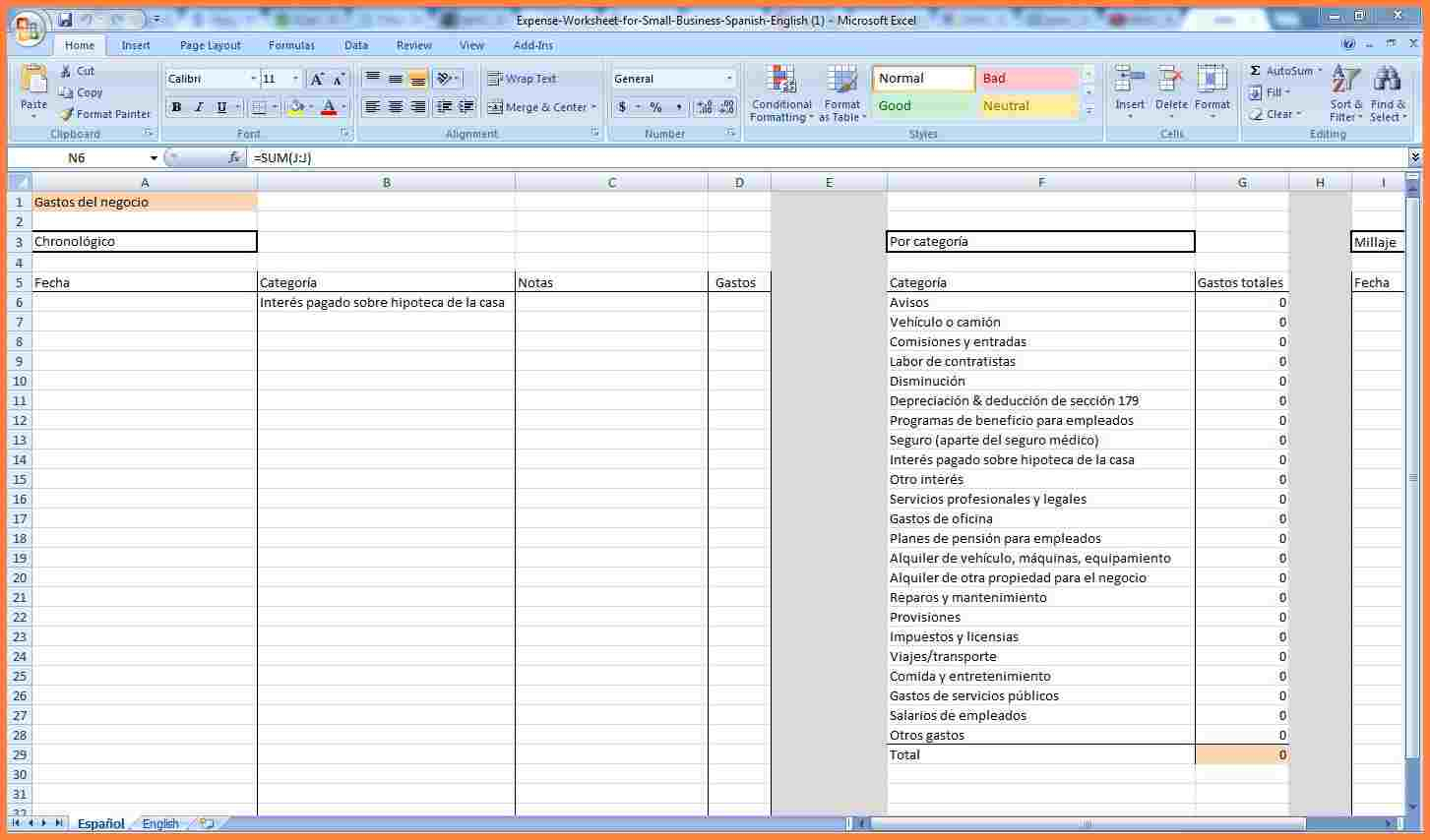 Business Tracking Spreadsheet Throughout 4 Business