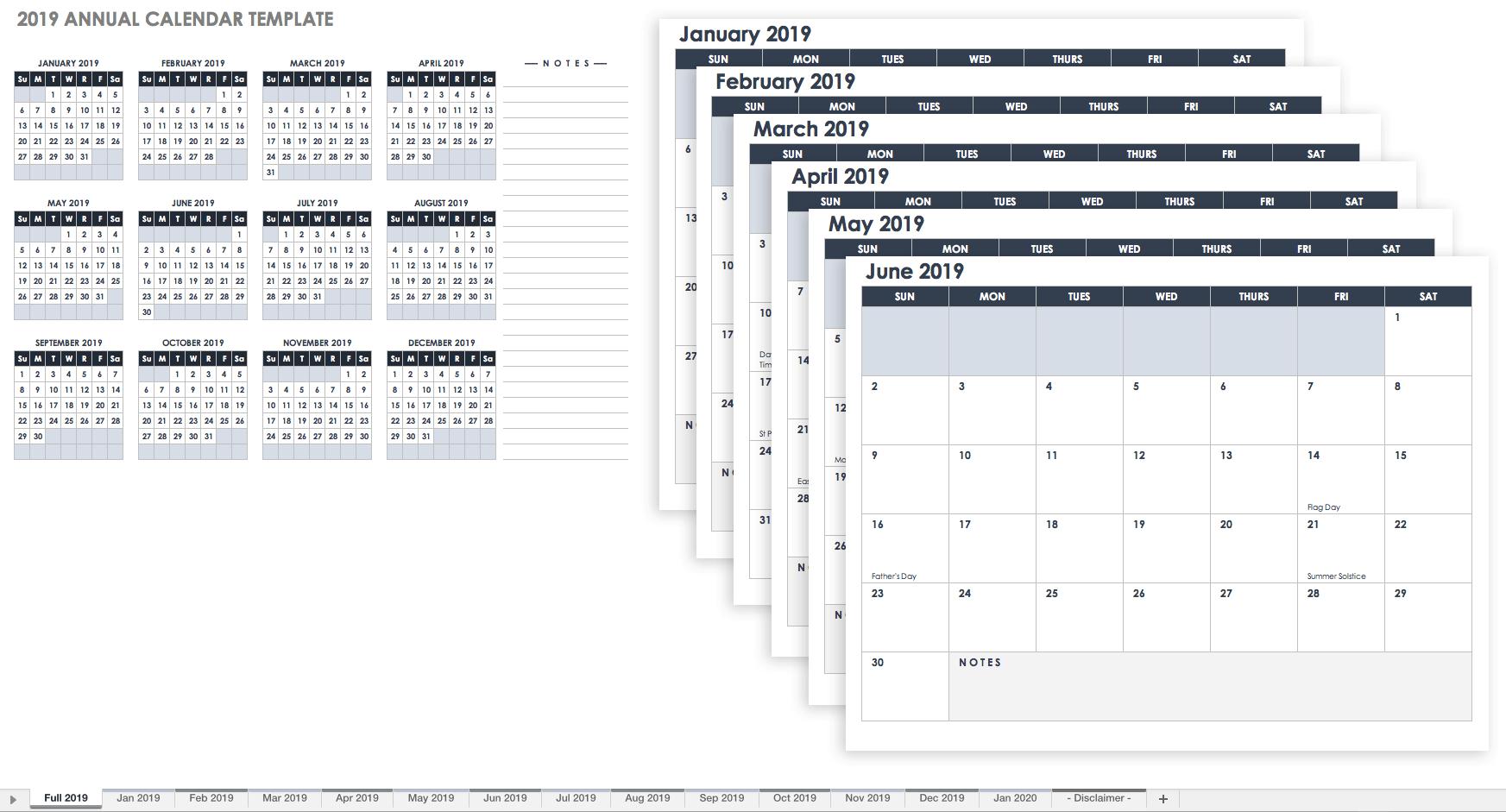 Calendar Spreadsheet Template In 15 Free Monthly Calendar