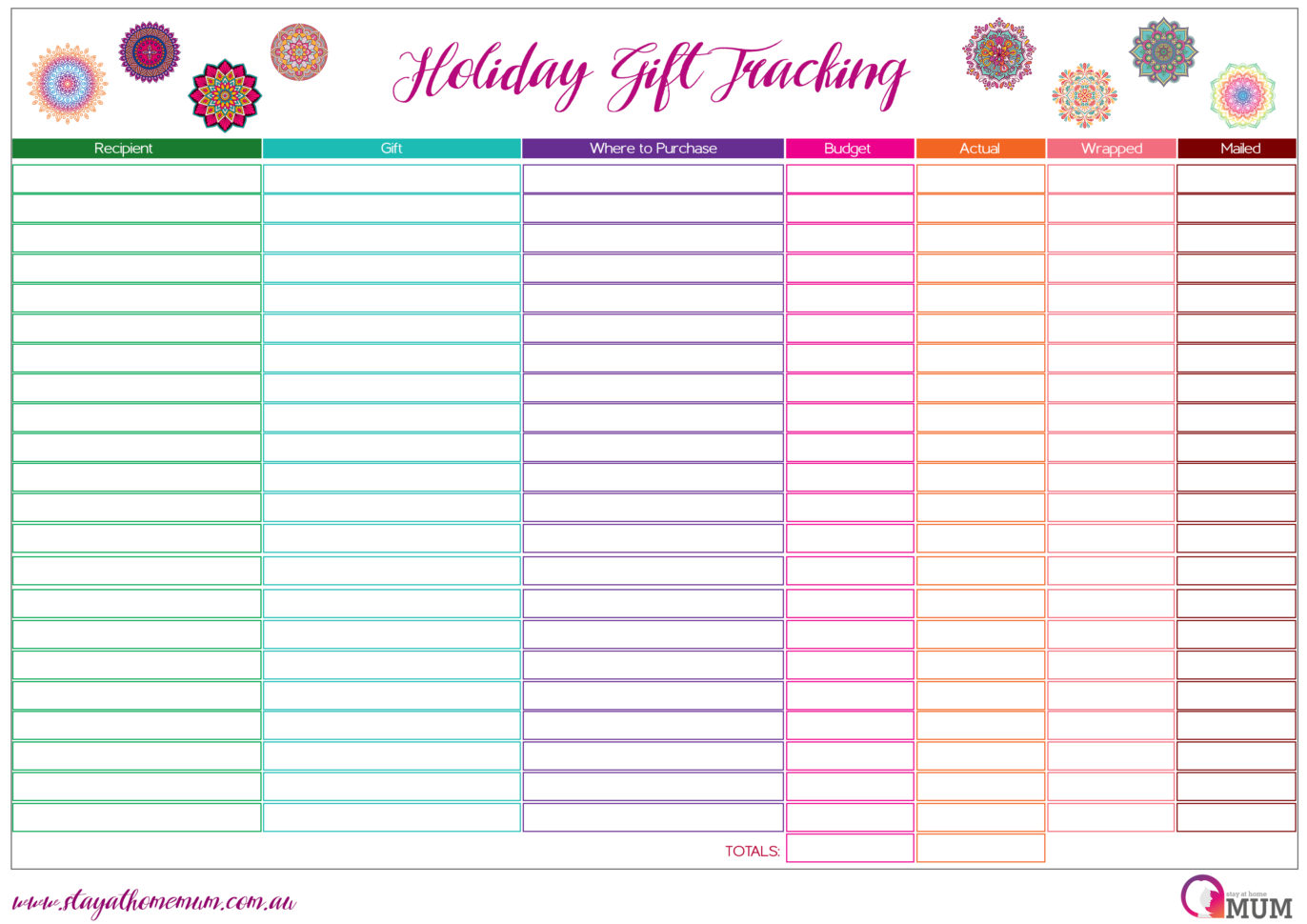 Christmas Present Spreadsheet With Regard To Holiday T