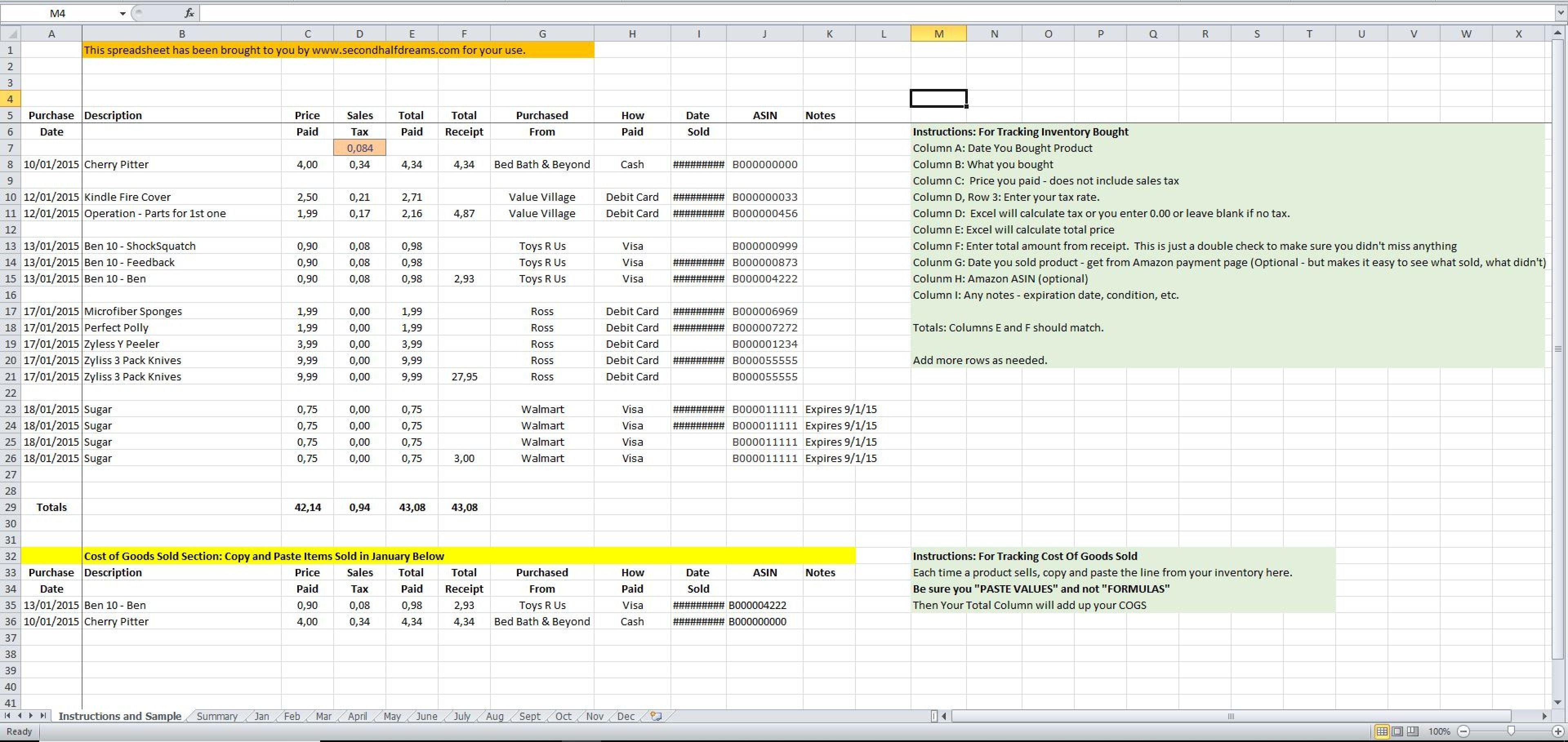 Cogs Spreadsheet Spreadsheet Downloa Cogs Spreadsheet