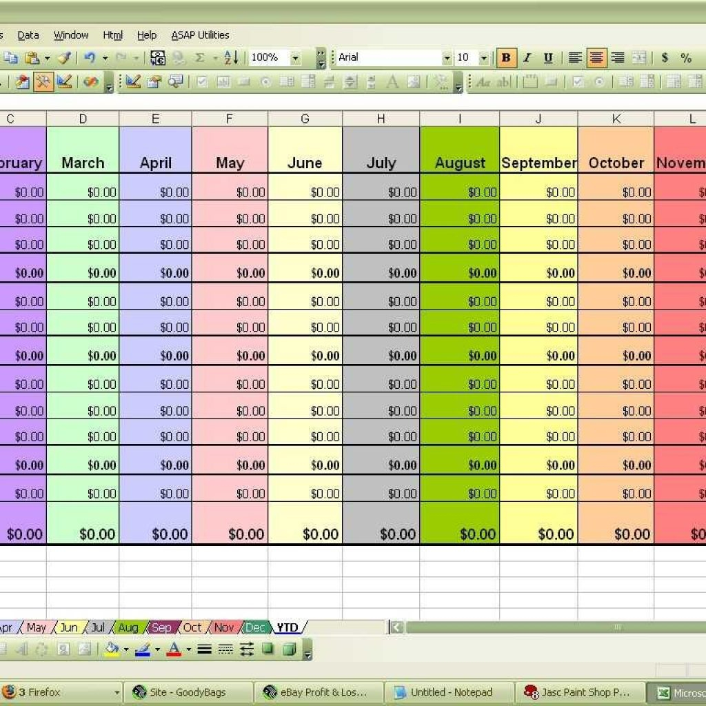 Colourful Excel Spreadsheet Intended For Excel Spreadsheet