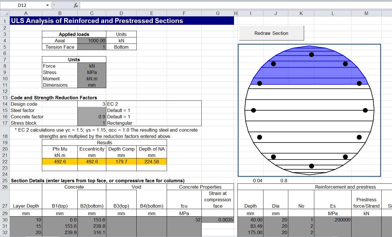 Column Design Eurocode 2 Spreadsheet Db Excel