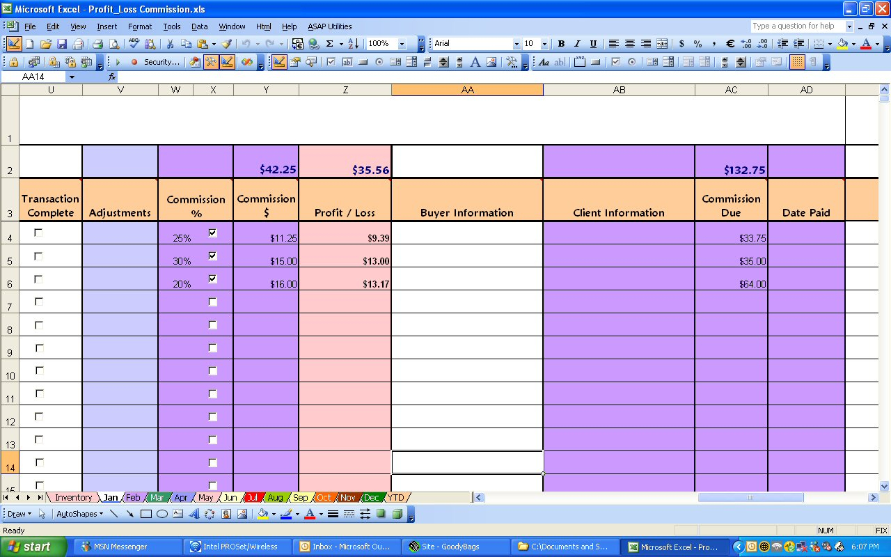 Commission Spreadsheet Template Excel Inside Ebay Profit