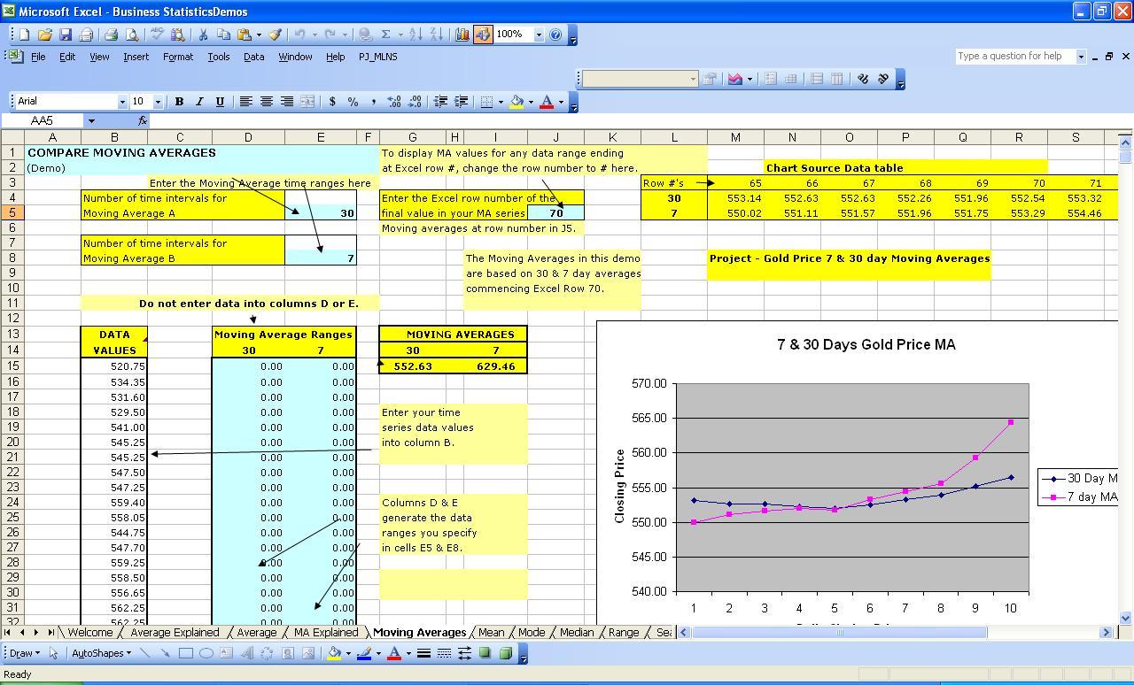 Complex Excel Spreadsheet Examples