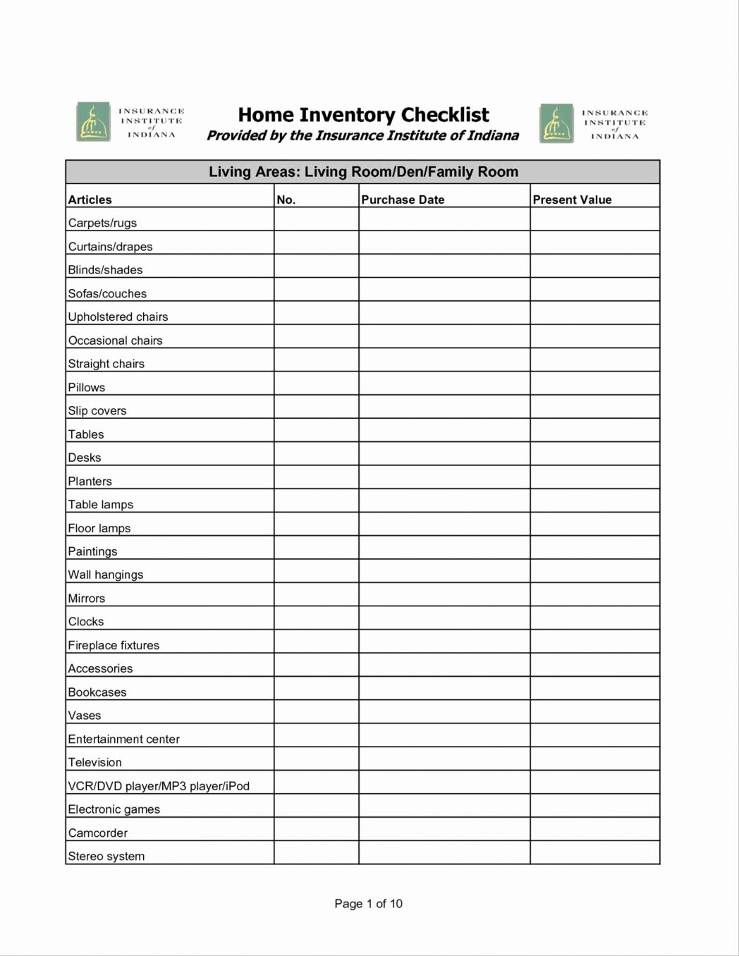 Construction Inventory Spreadsheet Spreadshee