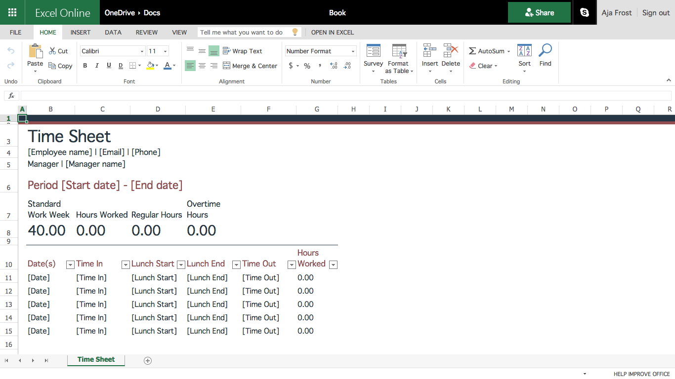 Creating Excel Spreadsheet Templates With How To Create