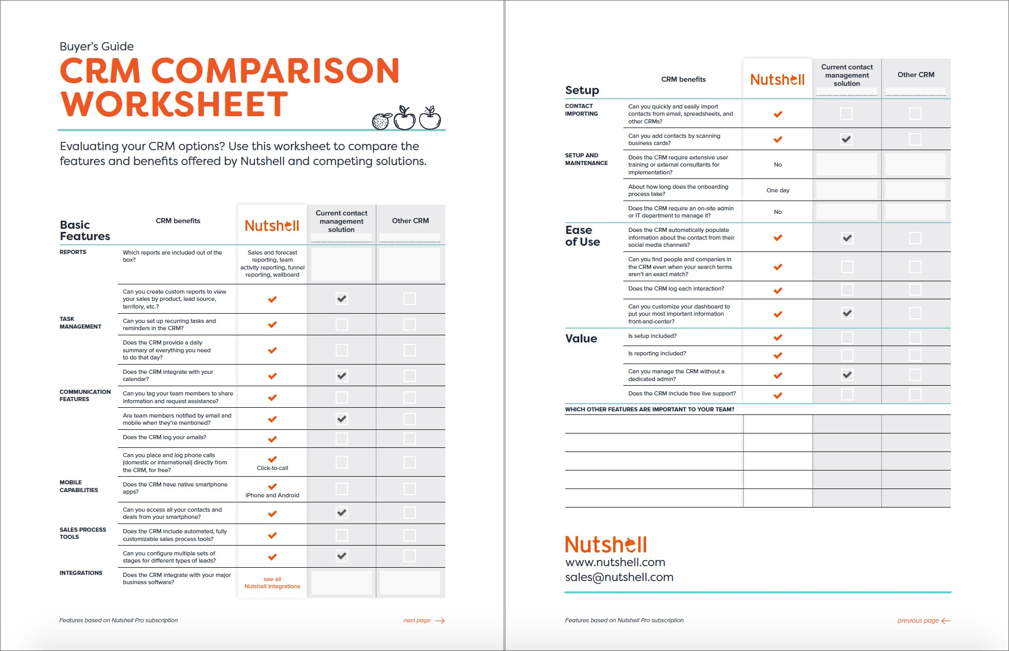 Credit Card Comparison Spreadsheet In Crm Comparison Worksheet Nutshell Free Crm Resources Db