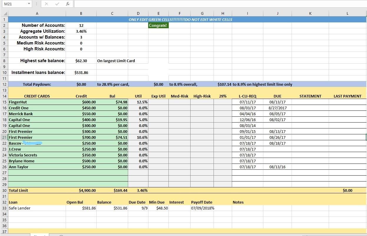 Credit Control Excel Spreadsheet Db Excel