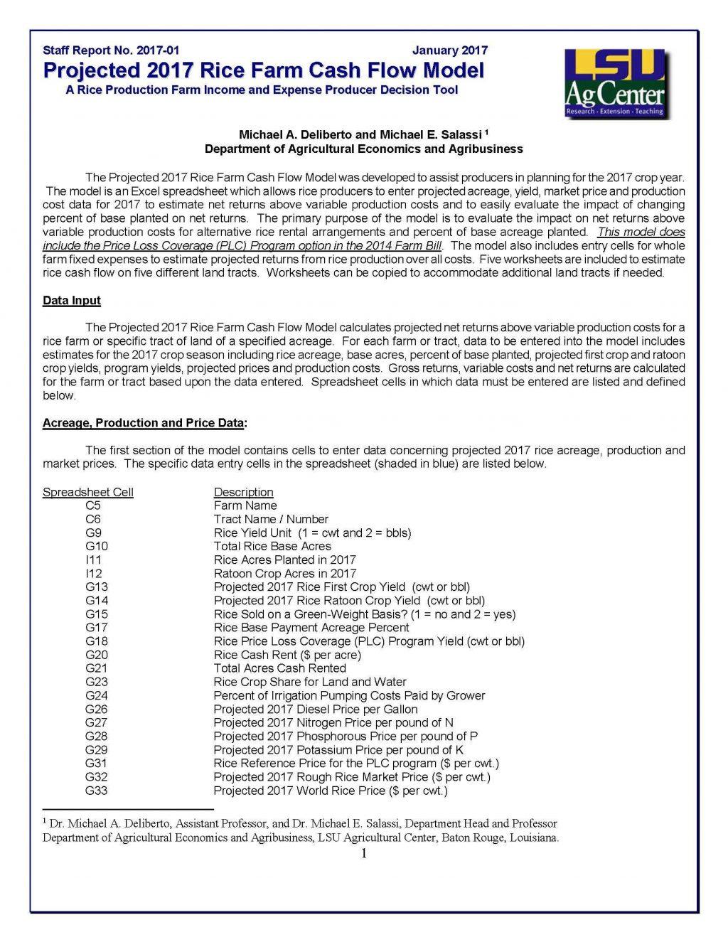Crop Production Cost Spreadsheet Spreadshee Crop