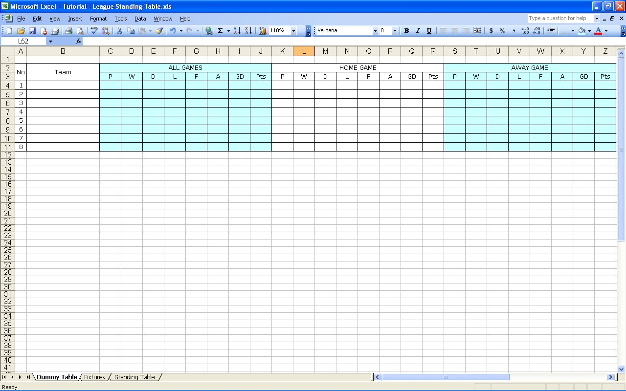 Darts League Excel Spreadsheet In Create Your Own Soccer