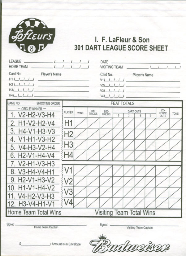 Darts League Excel Spreadsheet Printable Spreadshee darts