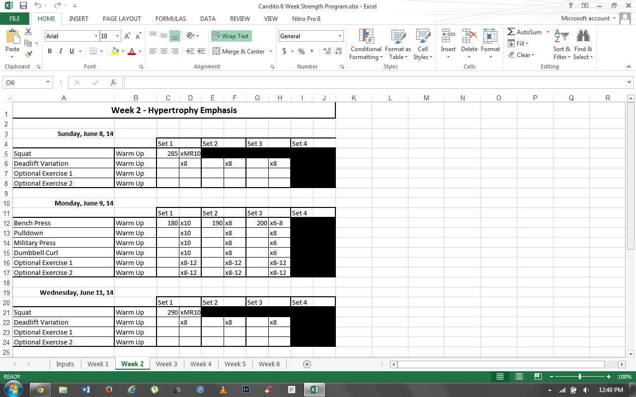 Deadlift Program Spreadsheet With Jonnie Candito 6 Week