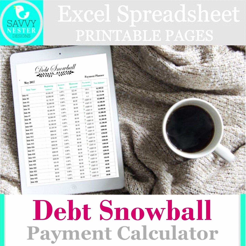 Debt Avalanche Spreadsheet With Regard To Debt Snowball