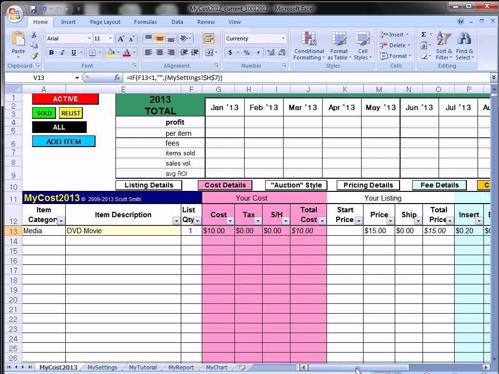 Ebay Spreadsheet Regarding Ebay Inventory Spreadsheet Free