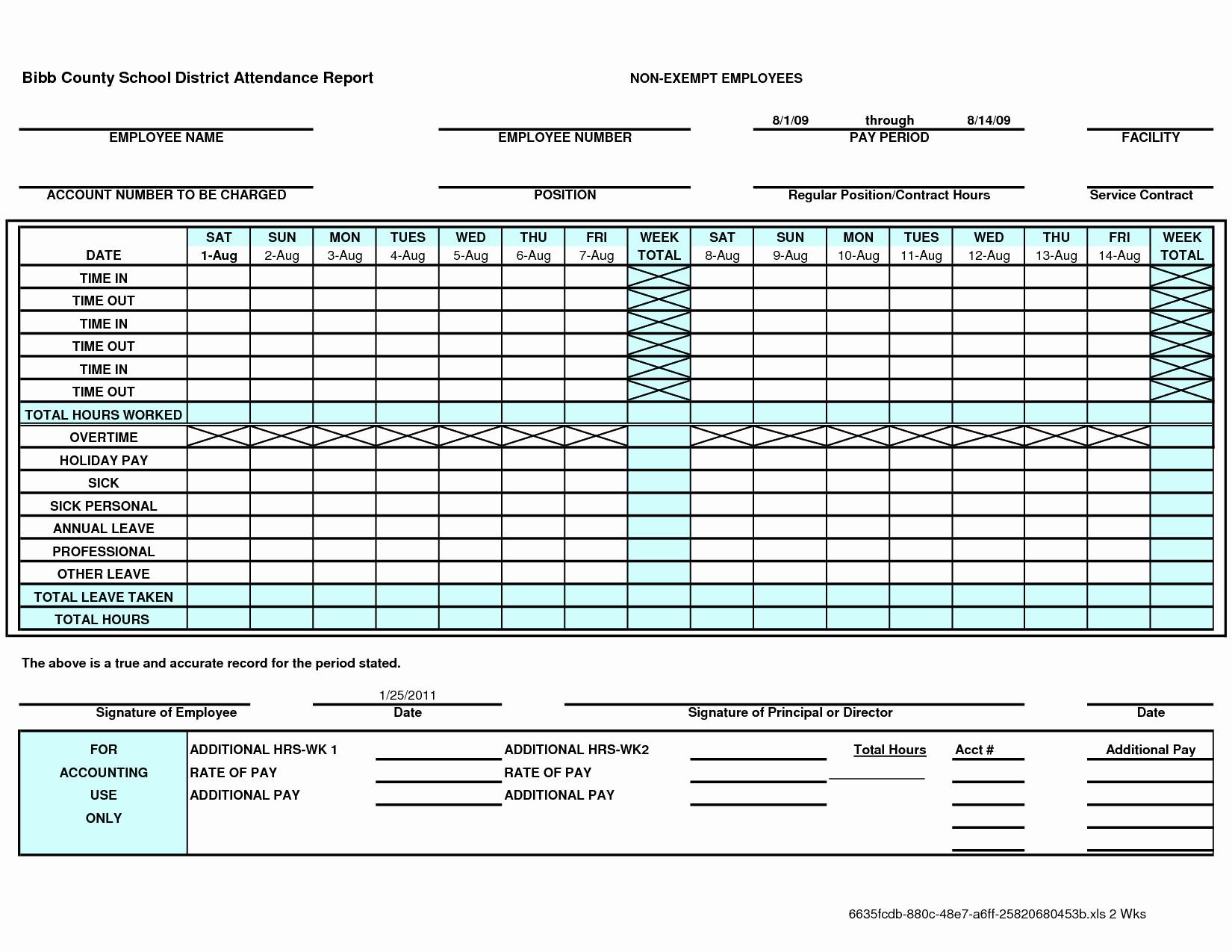 Employee Attendance Spreadsheet Template Spreadsheet