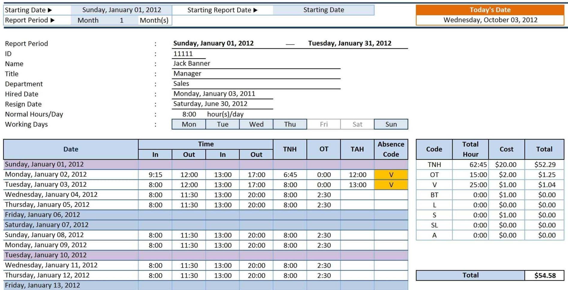 Employee Spreadsheet Payment Spreadshee Spreadsheet