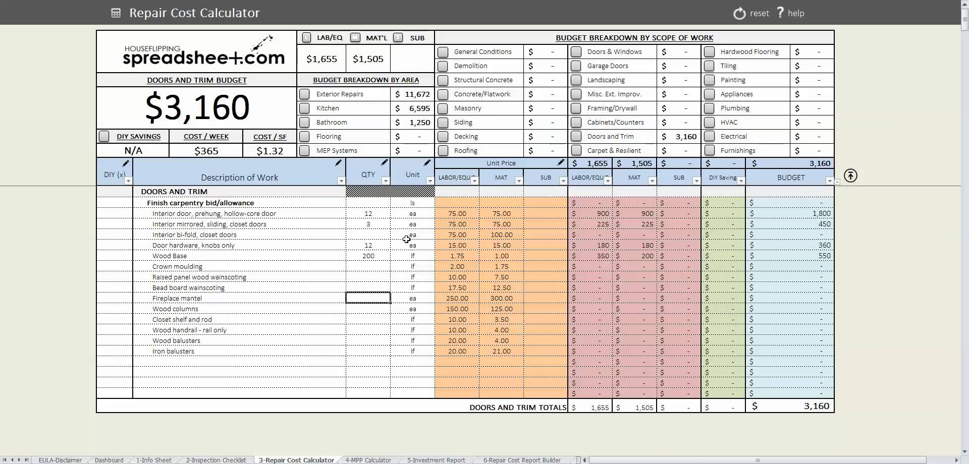 Estate Executor Spreadsheet Uk Printable Spreadshee Estate