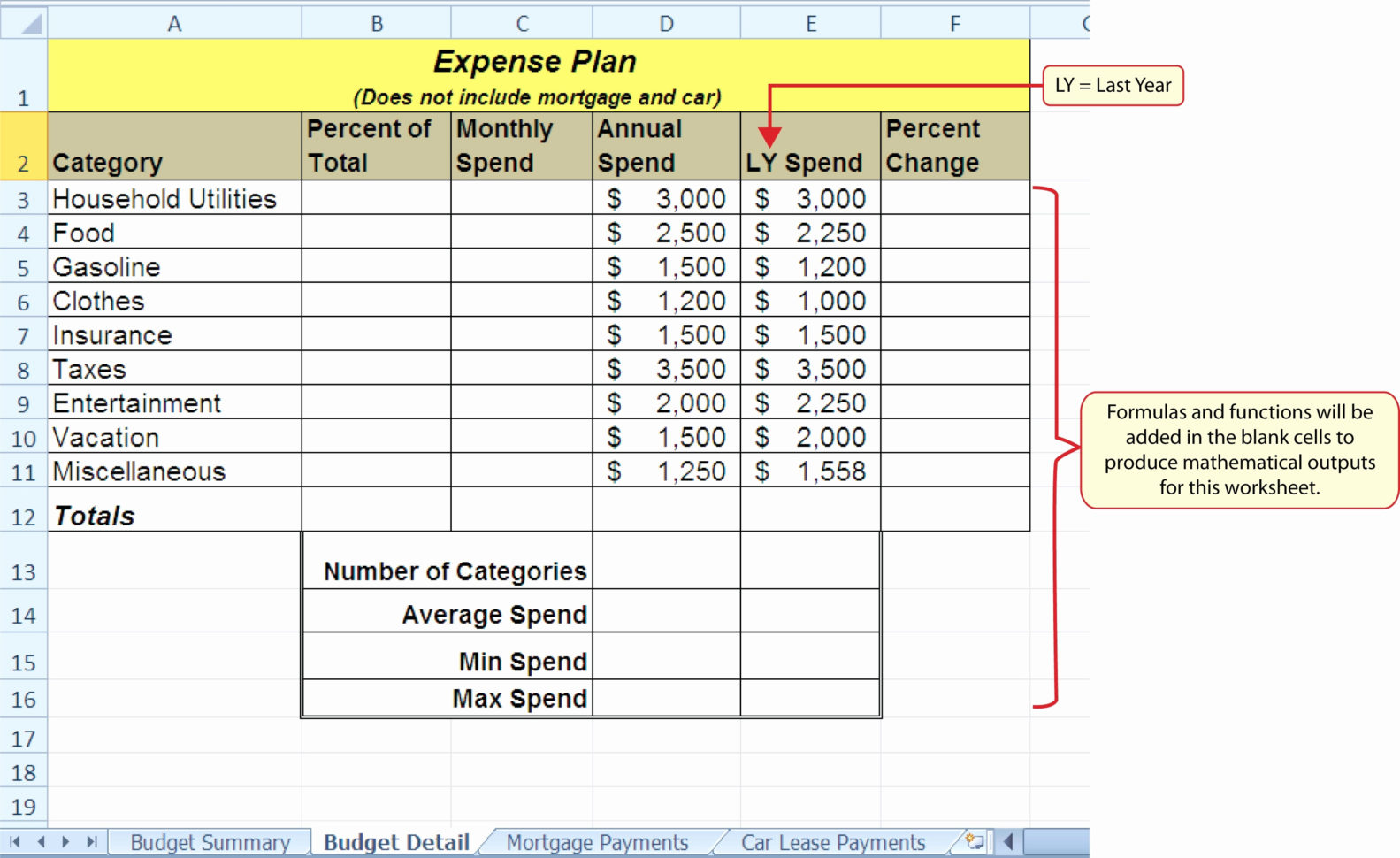 Excel Spreadsheet Exercises For Beginners