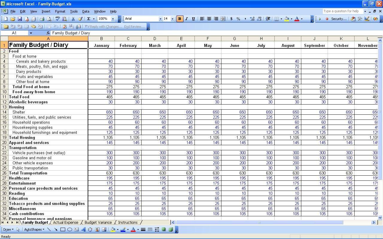 Excel Spreadsheet For Bills Intended For Excel Spreadsheet