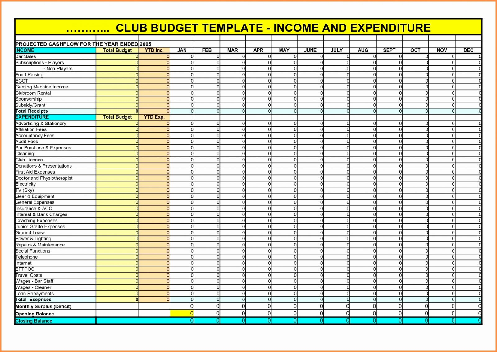 Excel Spreadsheet For Hair Salon With Budget Worksheet