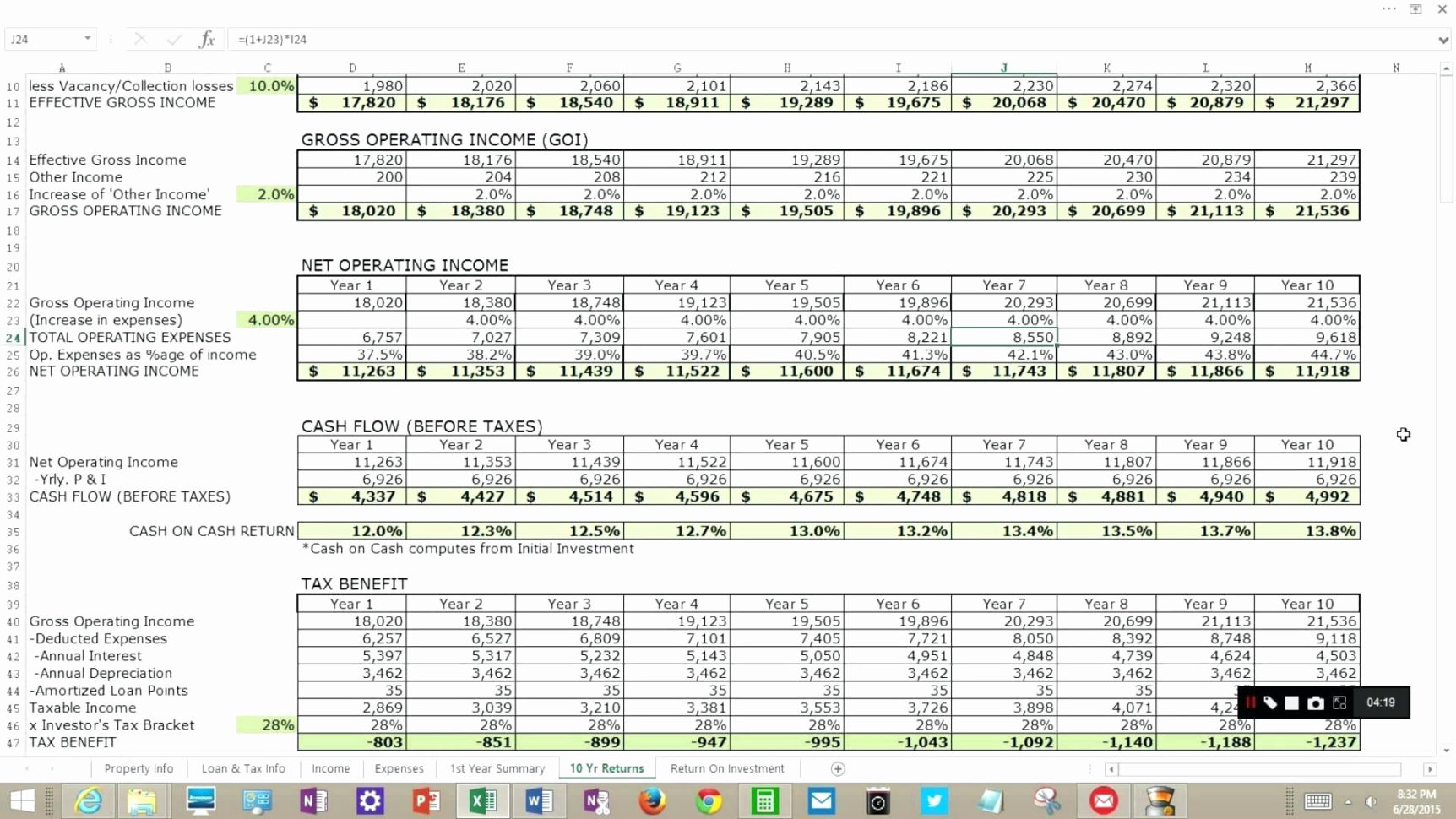 Excel Spreadsheet For Real Estate Investment