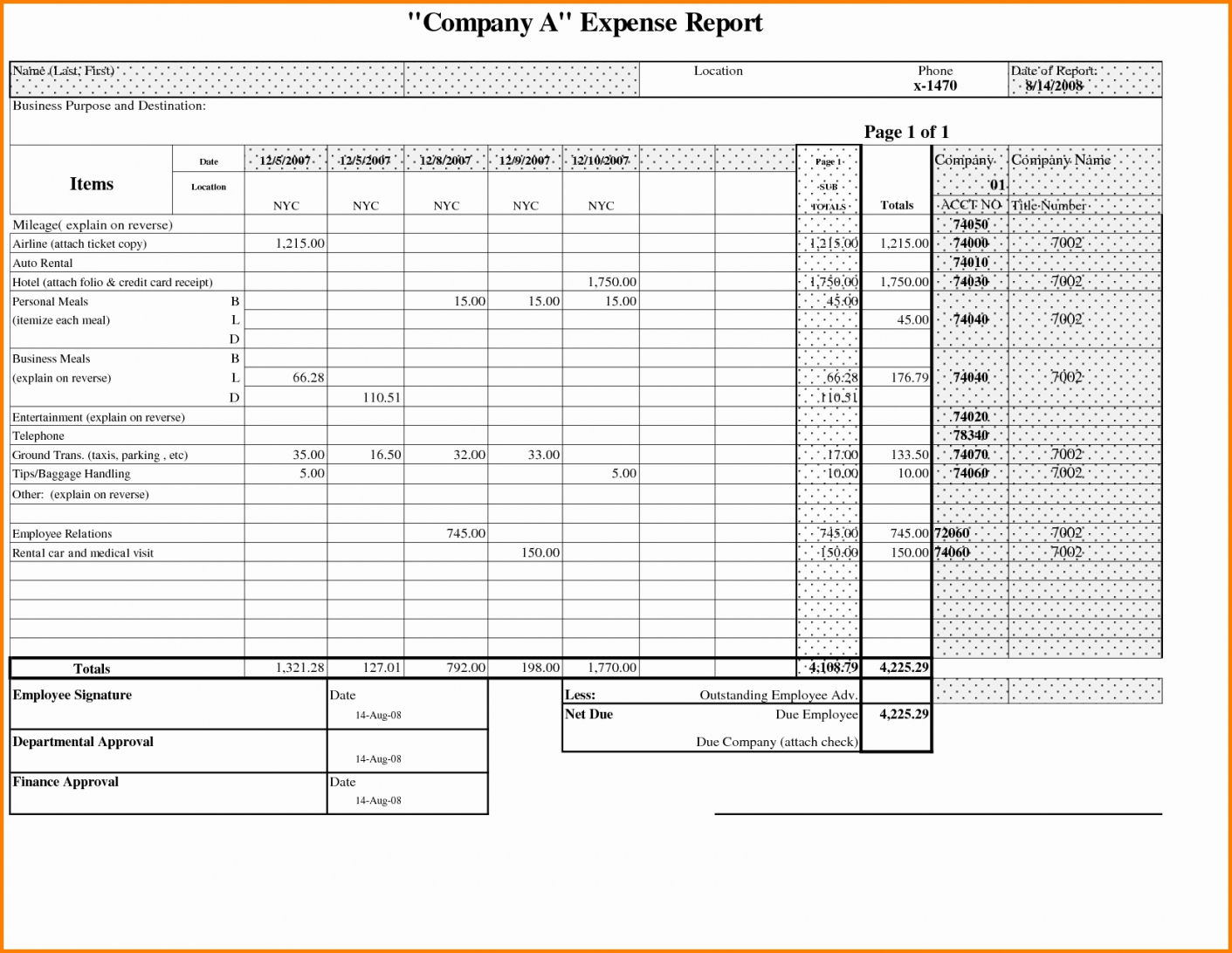 Excel Spreadsheet For Splitting Expenses Intended For