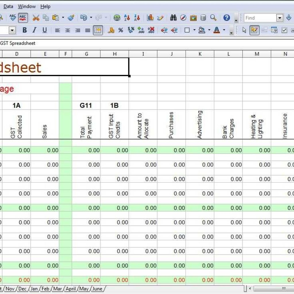 Excel Spreadsheet Template For Business Expenses