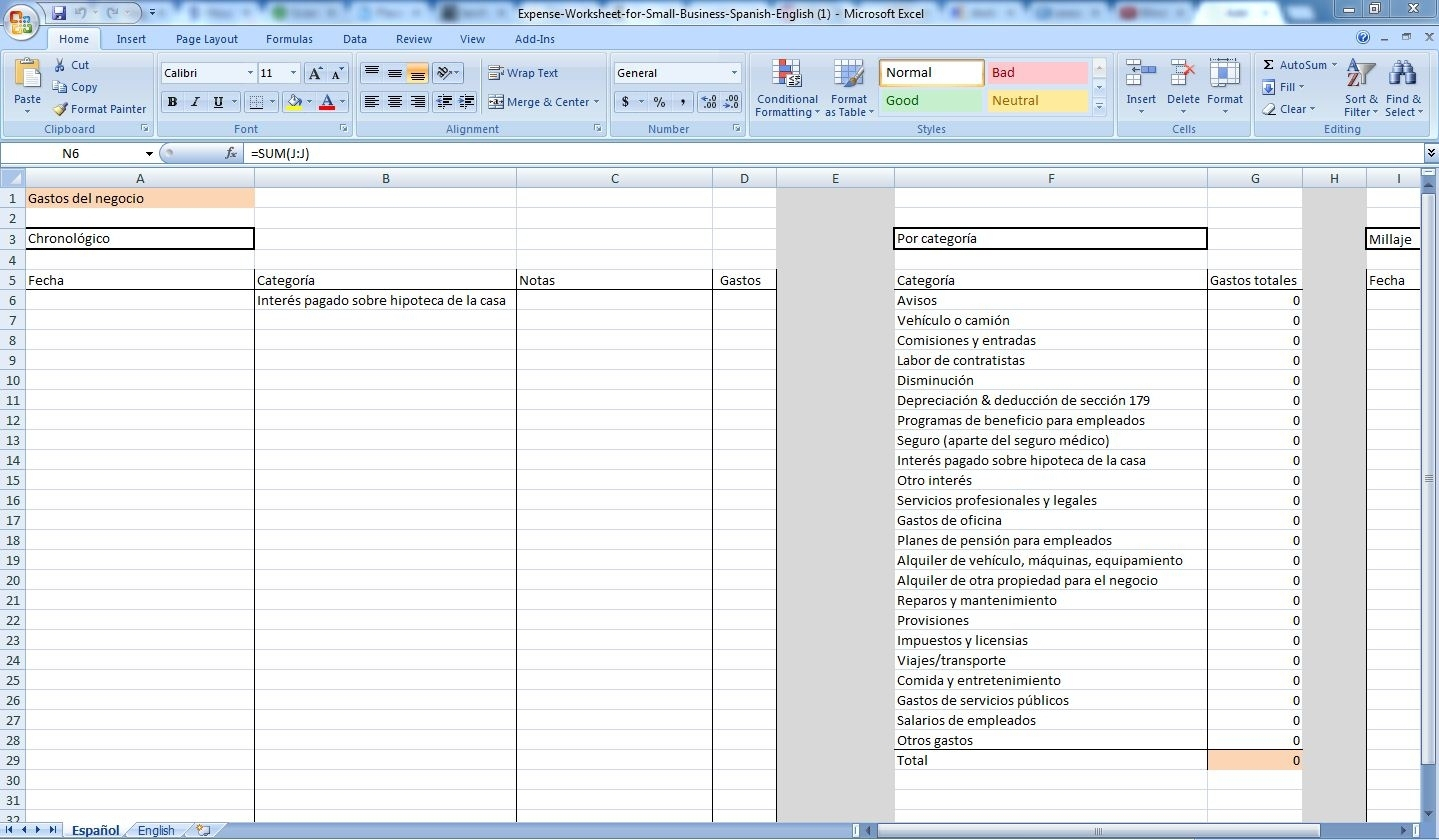 Excel Spreadsheet To Track Expenses Throughout Track